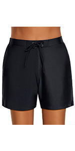 Women's Casual Lace Up Elastic Waist Swimsuit Bottom