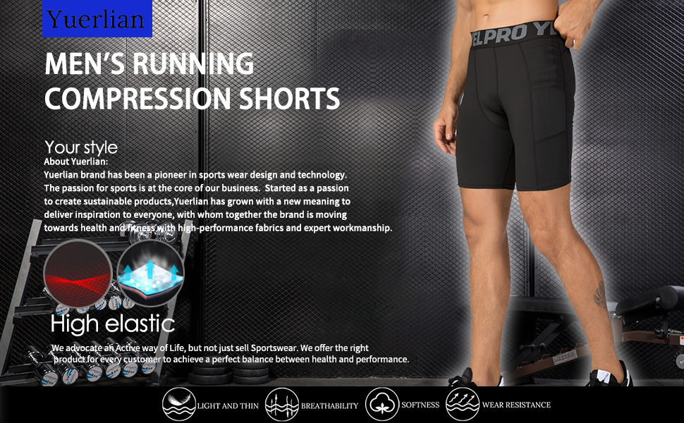 men's Running Compression Shorts