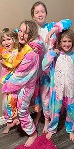 unicorn onsie pajamas for kids