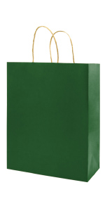 Green 5.25*3.25*8 inch Brown 100Pcs Small Kraft Bags with handles