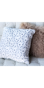 Snow Leopard Accent Throw Pillow