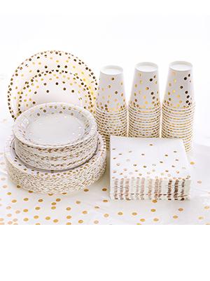 Paper Plates, Napkins Cups, Tableware Sets: