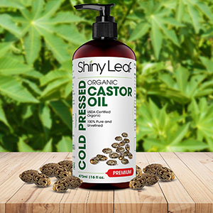organic castor oil for eyelashes with pump
