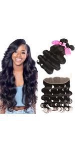 Younsolo Body Wave Bundles with Frontal