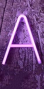 Neon Letters- Purple