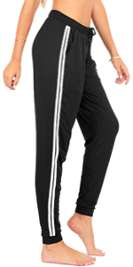 striped joggers for women