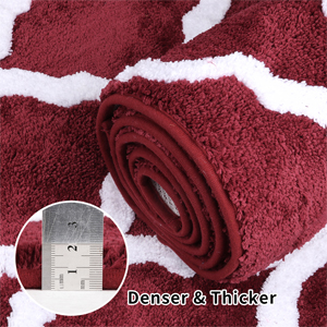 Microfiber Bathroom Rug Set 2 Piece Non Slip Floor Mat Water Absorbent Shower Rug Shaggy