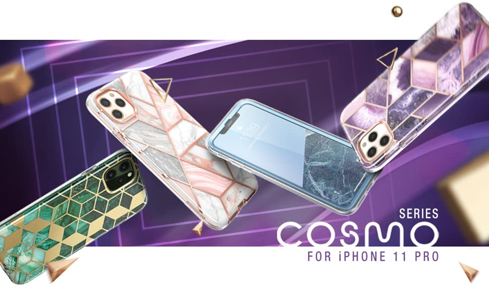 i-Blason Stylish Cosmo Case with Screen Protector for iPhone 11 Pro 5.8 2019