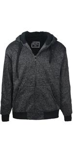 charcoal mens sherpa lined hoodie