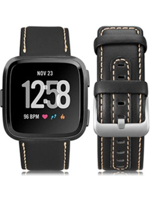 genuine leather band compatible with fitbit versa bands for men