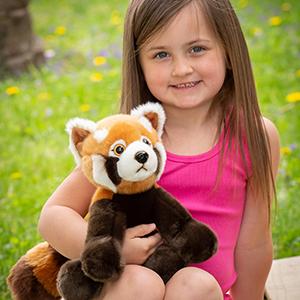 plush red panda stuffed animals wildlife toy