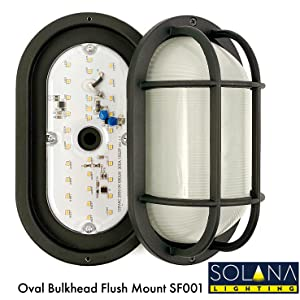 led bulkhead hallway stairway outdoor dimmable light LED outside modern weatherproof water resistant