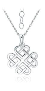 Love Knot Filigree Pendant Necklace