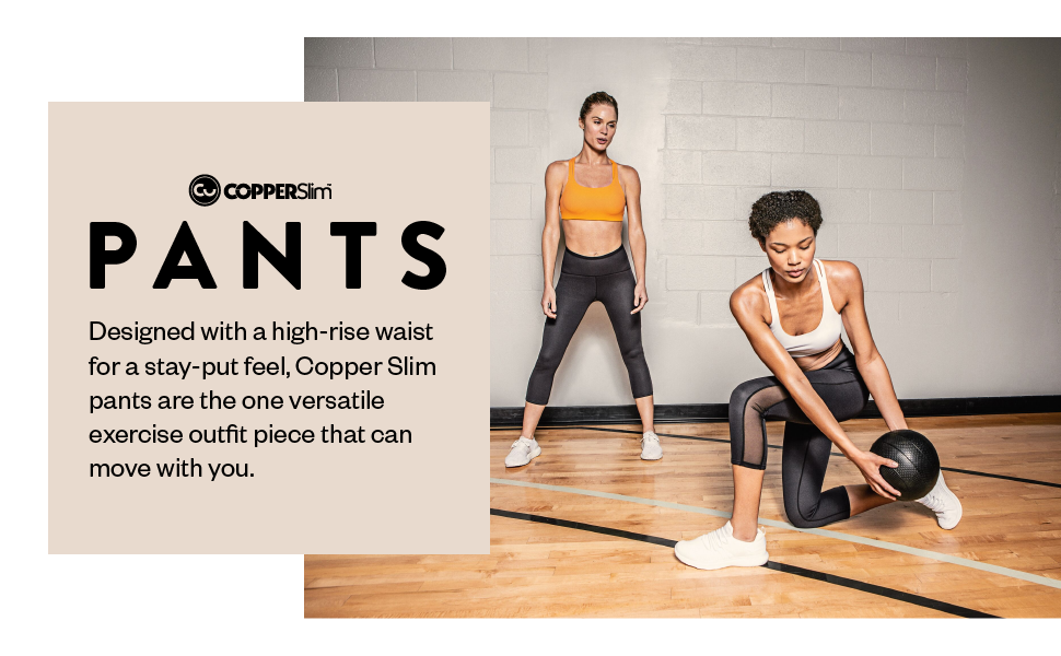 copper slim workout pants for women compression pants copper infused high waisted workout leggings