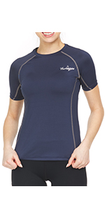 Thermajane Women's Compression Shirt Short Sleeve