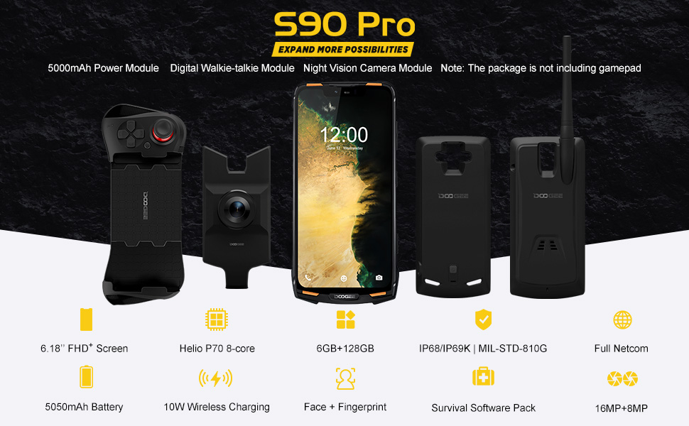 DOOGEE S90 PRO SUPER Outdoor Smartphone Unlocked