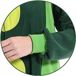 plush material design Details of pea costume adult pea onesie pea pajamas