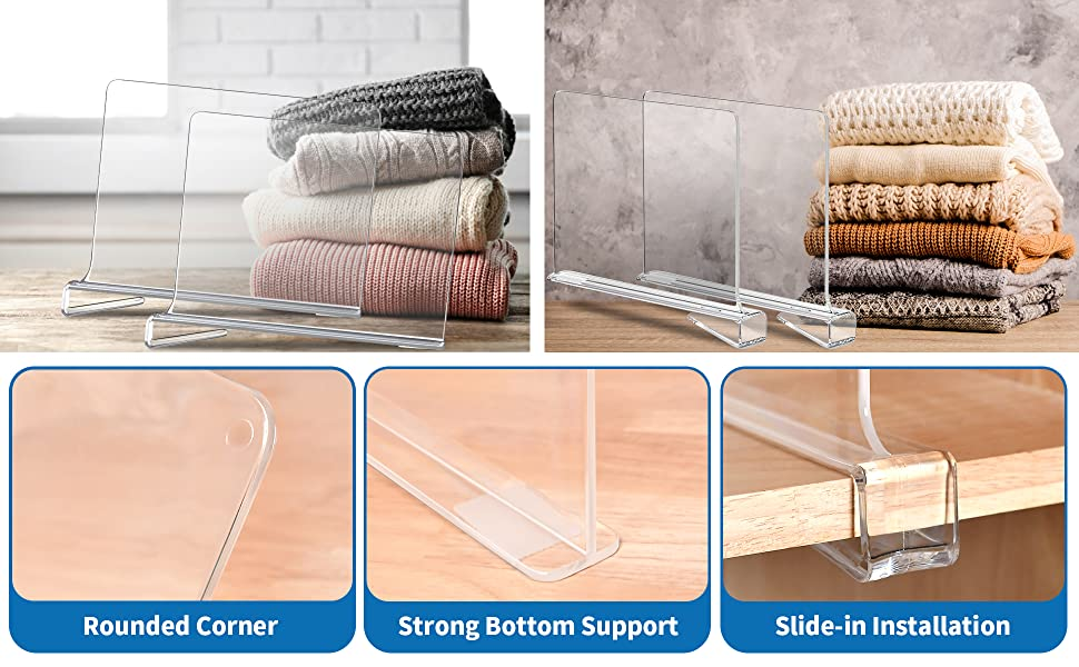 Rounded Corner, Strong Bottom Support, Slide-in Installation