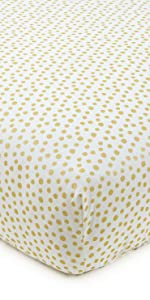 Charlotte Gold Dot Fitted Sheet cotton