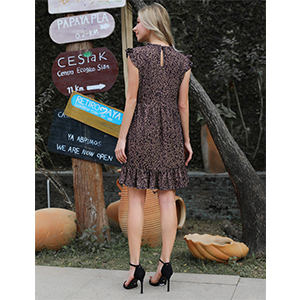 lepard babydoll dress