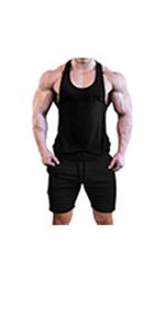 mens gym shirt and shorts