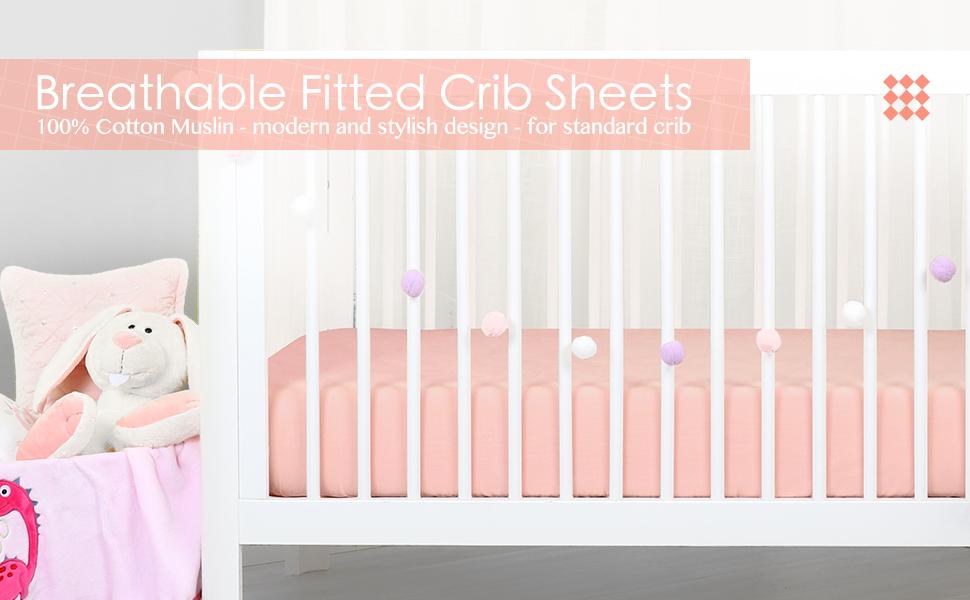 cotton muslin crib sheet