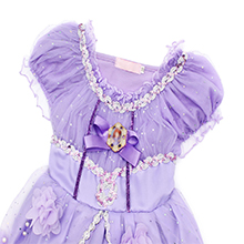 purple dresses for little girls costume princess party outfits HB006+P002-2