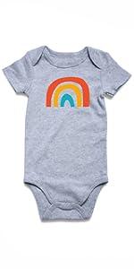 baby rainbow onesies