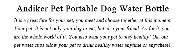 Pet portable water bottle