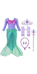 B07RBRBNJC mermaid costume dress sequins