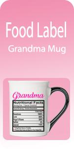 Food Label Mugs grandma mugs grandma nutrition mugs grandma grandma cups