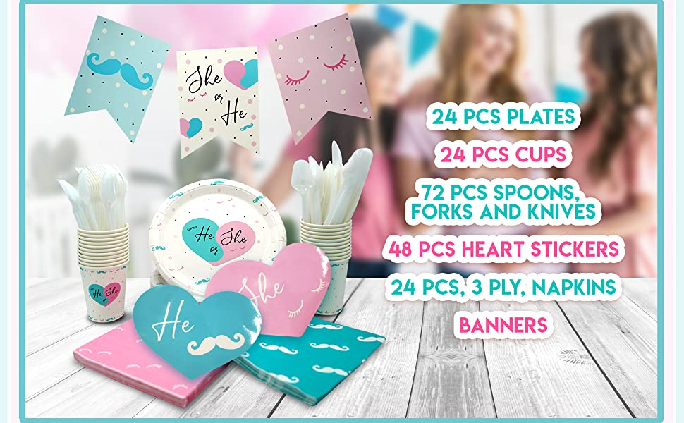 pink and blue cups for gender reveal gender reveal party plates cups and napkins baby gender reveal
