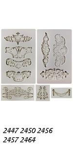 Baroque Ornament Molds 5-count