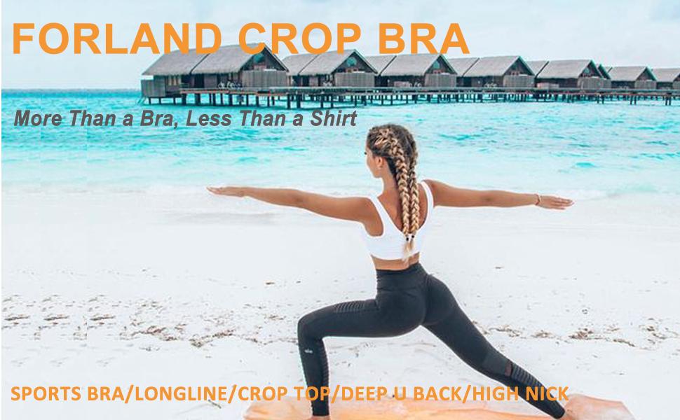 womens crop top sports bra