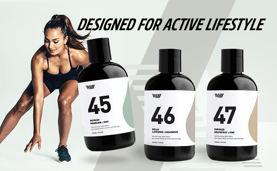 luxury shower gel acne body wash organic for women men peppermint clear lavender natural dry skin