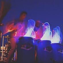 performance group lighting enhance show play drummers drumsticks rockstix sticks light up