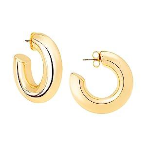 Medium Hoop Earrings in Gold