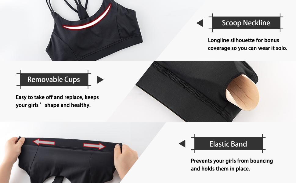 womens best workout bra top