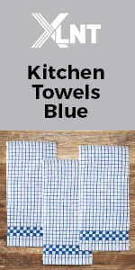 blue kitchen towels
