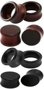 wood plugs and tunnels