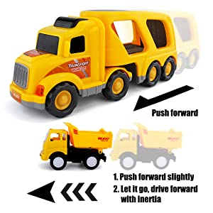Push and Go Car Truck       Bright Flashing 4D Lights & Real Siren Sounds