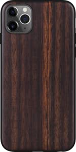 iATO iPhone 11 Pro Max Case Real Natural Dark Bois De Rose Wood Cover Protective Shockproof Classy