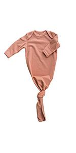 blush baby gown