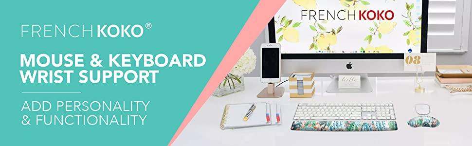 French koko cute mousepad mouse pad ergonomic keyboard wrist pad deskpad girls mouse pad home office