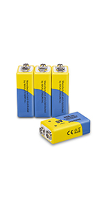 9v rechargeable batteries 4pack