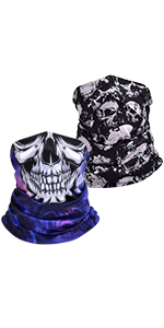 UV NECK GAITER skull