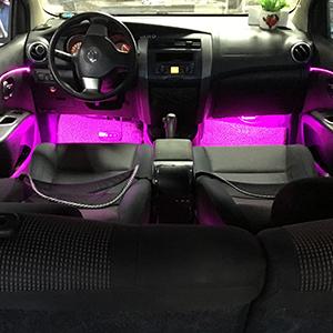 car led strip interior lights music