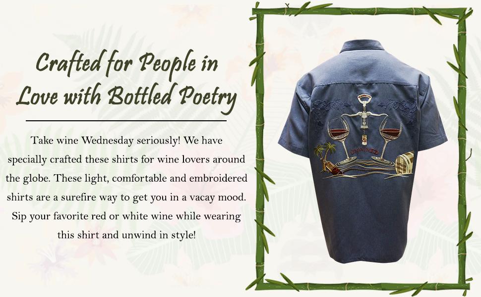 Embroidered machine washable shirt