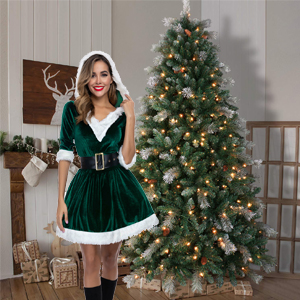 green Christmas costume