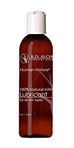 100% Natural, Organic lubricant for All Skin Types. RD Alchemy Natural Products. Human Nature lube